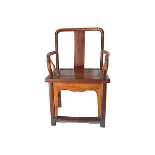 Vintage Ming Style Rosewood Armchair For Sale