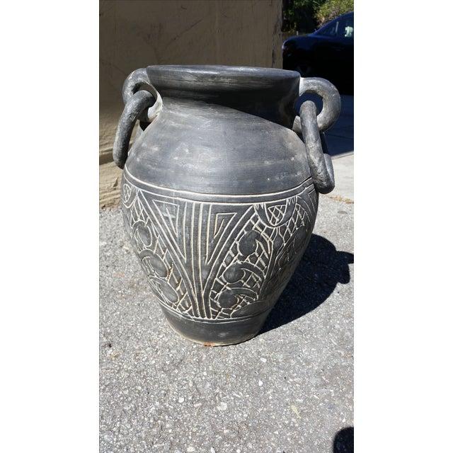 Vintage Gray Terracotta Vase - Image 2 of 5
