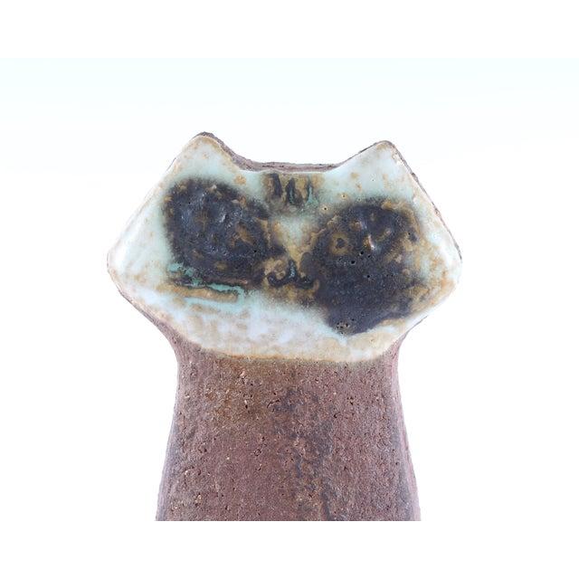 """Gustavsberg Vintage Lisa Larson for Gustavsberg Sweden """"Small Zoo"""" Cat Figurine For Sale - Image 4 of 7"""