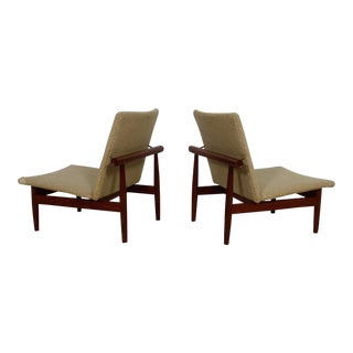 Pair Teak Finn Juhl 'Japan' Chairs For Sale