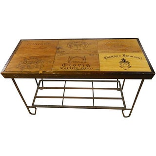 Rustic French Wine Panel Table/ Bar For Sale