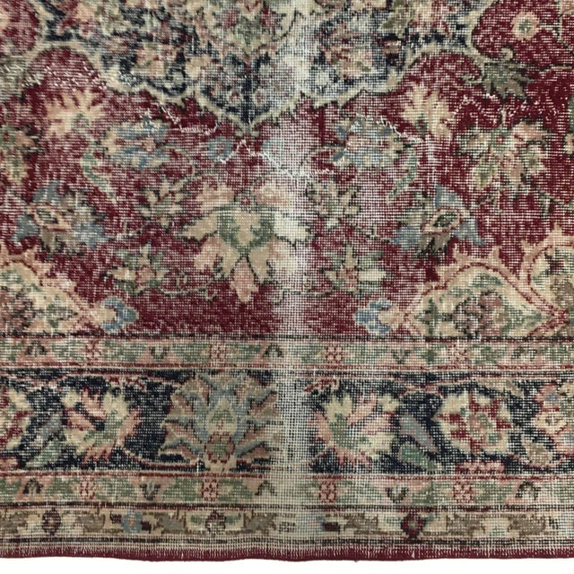Rug & Relic, Inc. Distressed Turkish Carpet   7'1 X 10'8 For Sale - Image 4 of 6