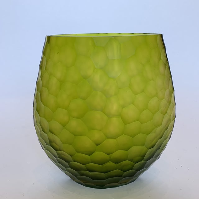 This Beautiful Janus et Cie Vase is handcrafted and chiseled to perfection. Featuring a rich matte peridot color, this...
