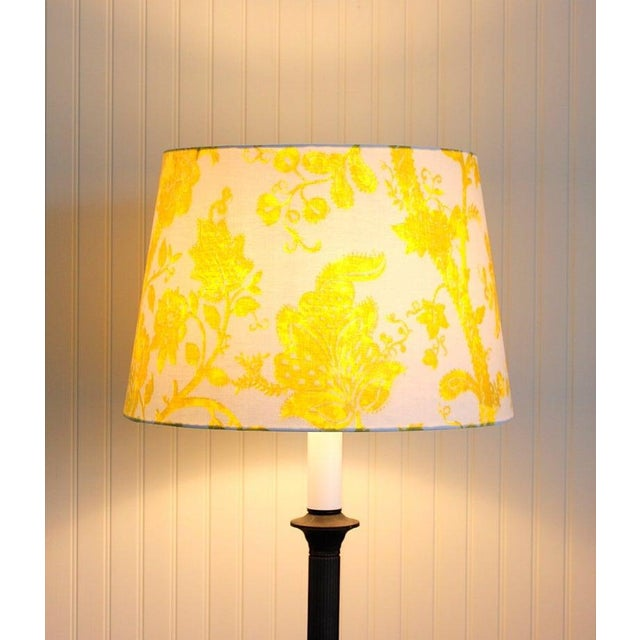 This beautiful lampshade is handmade from a stunning designer screen printed fabric. When illuminated it will be the focal...