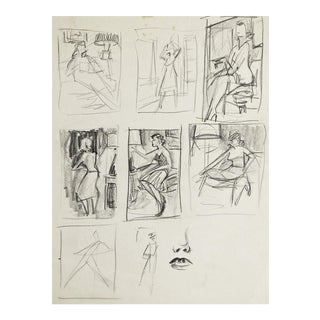 Pencil Studies of Women For Sale