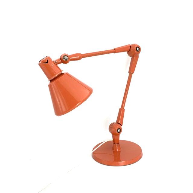 Stilnovo 1960s Stilnovo Mod. Aure Original Painting Pink Table Lamp For Sale - Image 4 of 13