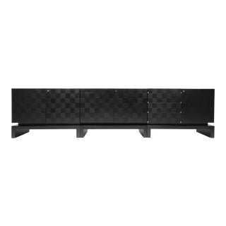 Black Sectional Credenza by De Coene - 1970s For Sale