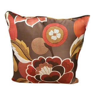 Luxury Botanical Silk Pillow With Feather Filling For Sale