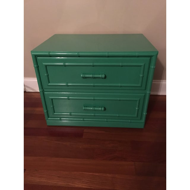 Dixie Furniture Lacquered Faux Bamboo Chest - Image 2 of 7