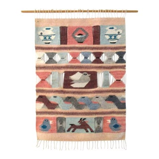 Vintage Southwestern Hanging Tapestry For Sale