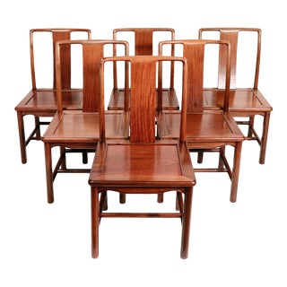 Mid-Century Modern Chinese Dining Chairs - Set of 6 For Sale