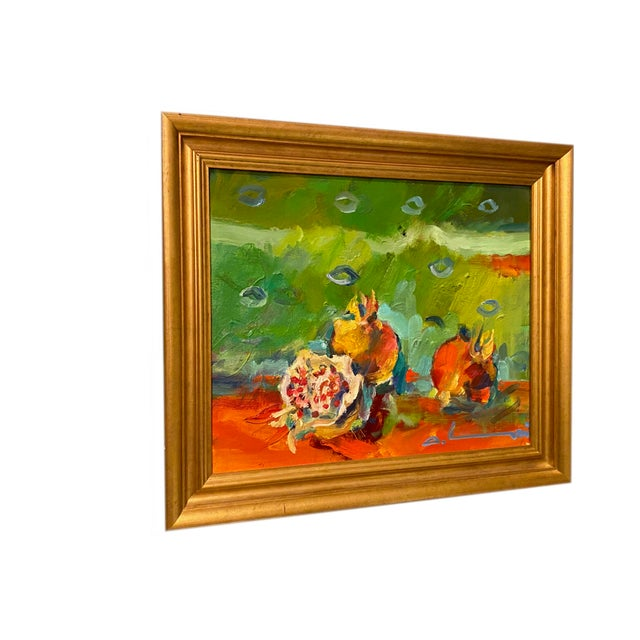 """French Impressionist Painting by Adrien Moroni, """"Fruits de Grenade"""" For Sale - Image 4 of 9"""