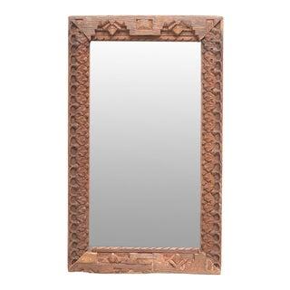 Antique Tribal Teak Mirror