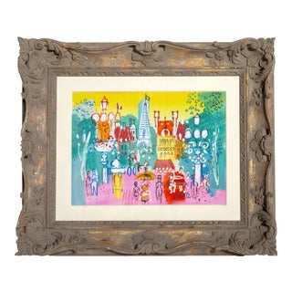 """Charles Cobelle, """"Eiffel Tower View From Plaza"""", Paris Cityscape Painting For Sale"""