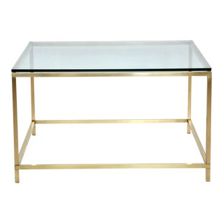 Harvey Probber Brass Coffee Table For Sale