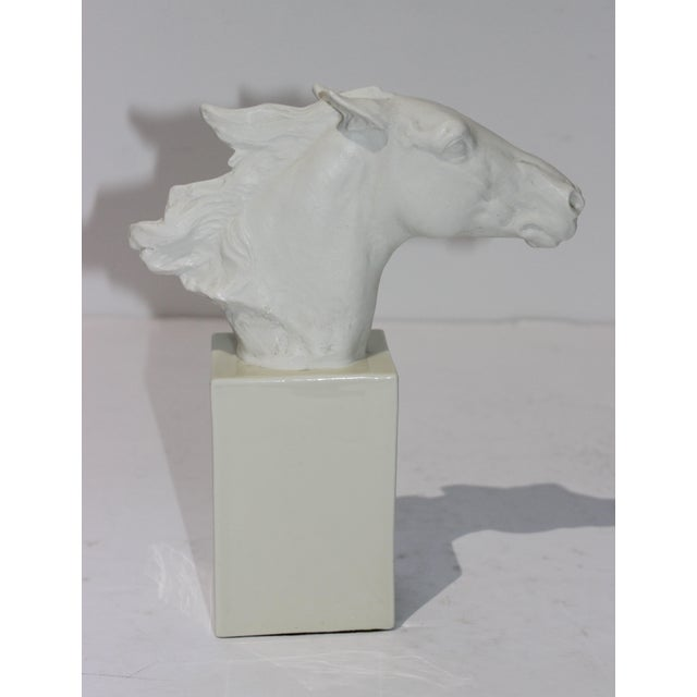Ceramic Vintage 1930s-1940s Horse Sculpture White Porcelain For Sale - Image 7 of 13