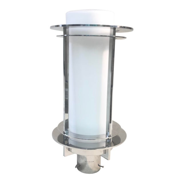 Kichler Pacific Edge Outdoor Post Lantern in Stainless Steel For Sale