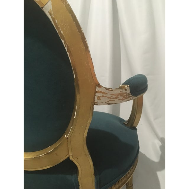 19th C. French Gilt Chairs - a Pair For Sale - Image 10 of 13