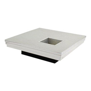 Pierre Cardin Coffee Table With a Graduated Aluminum Top For Sale