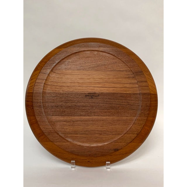 Wood 1960s Mid-Century Scandinavian Danish Modern Teak Platter by Henning Koppel for Georg Jensen For Sale - Image 7 of 12