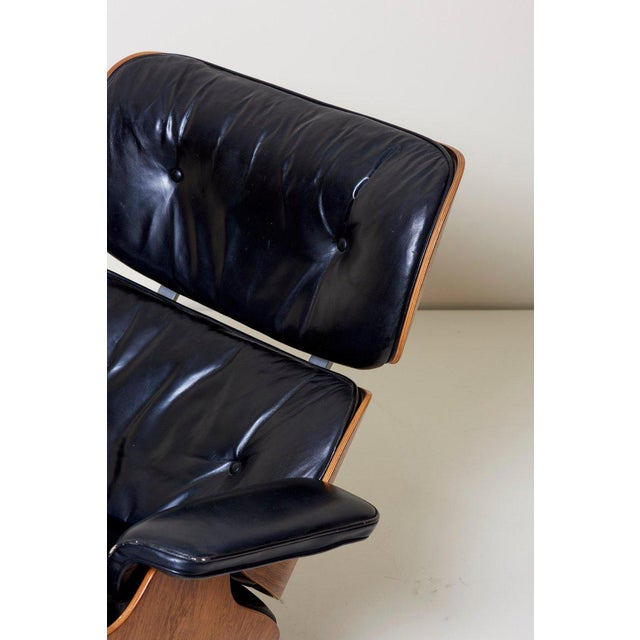 Brown Classic Lounge Chair by Ray and Charles Eames for Herman Miller, 1970s For Sale - Image 8 of 12