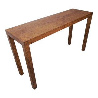 Burled Beacon Hill Console Table For Sale