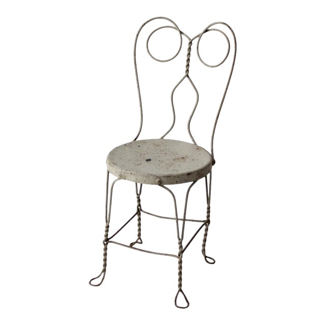 Vintage Ice Cream Parlor Chair For Sale