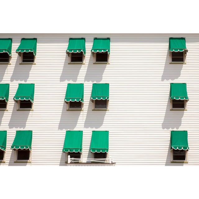 """""""Green Awnings"""" Contemporary Outdoor Still Life Photograph Print For Sale"""