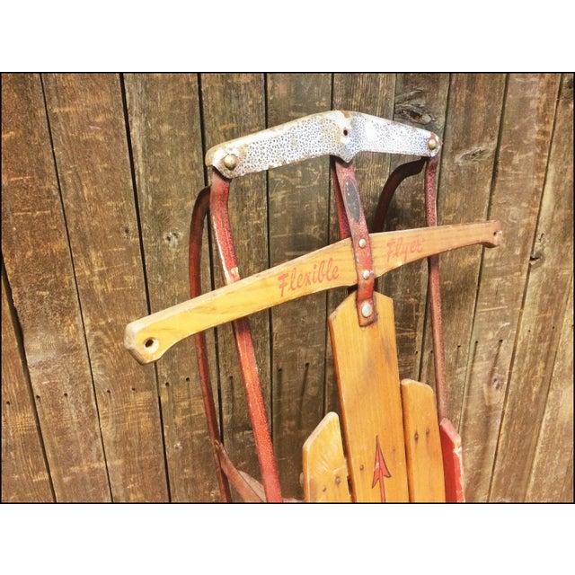 Vintage Weathered Wood & Metal Runner Sled - Image 4 of 11