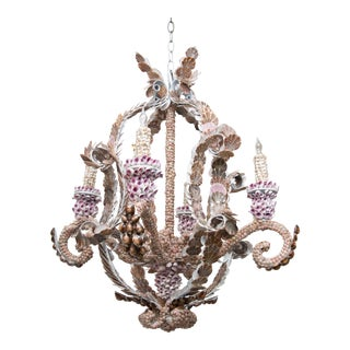 Shell Encrusted Chandelier For Sale