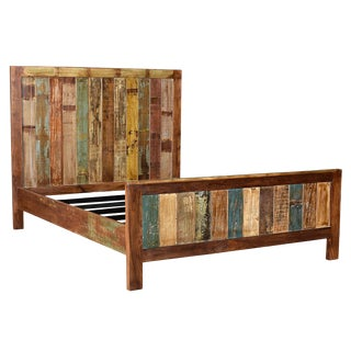 Reclaimed Wood Eastern King Bed Frame For Sale