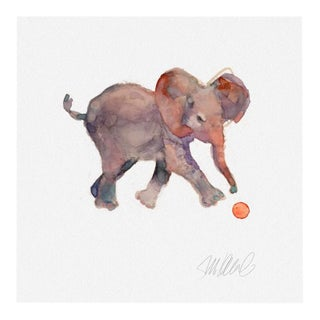 Premium Giclee Print Of Elephant At Play For Sale