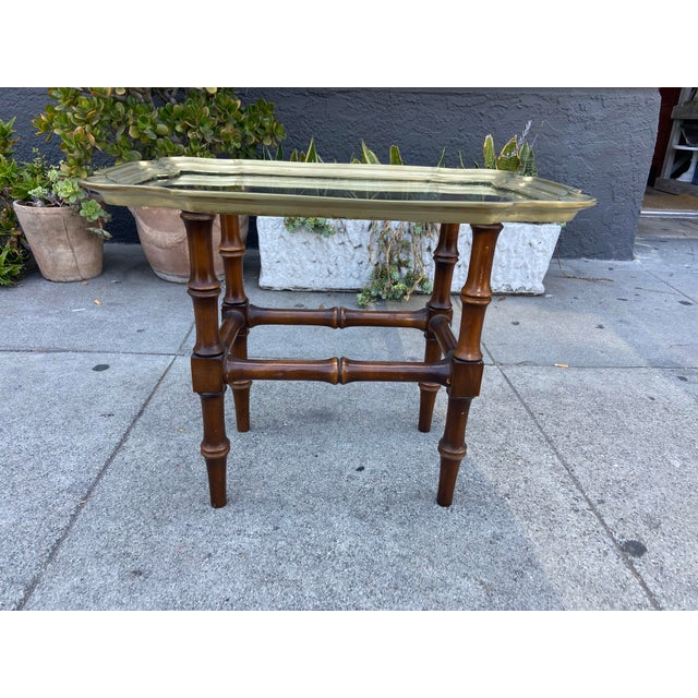 Vintage Gilded Moroccan End Table Pair For Sale In Los Angeles - Image 6 of 10