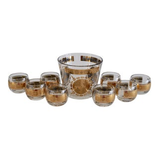 Roly Poly Cocktail Glasses & Ice Bucket - Set of 9