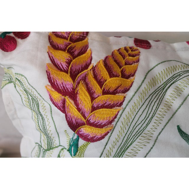 Osborne & Little Osborne & Little Sumatra Fabric Pillows - A Pair For Sale - Image 4 of 8