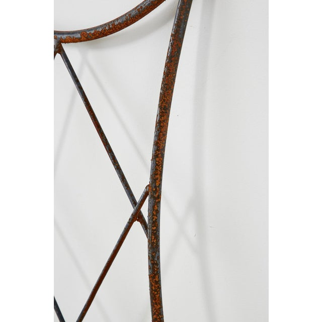 Pair of Regency Style Iron and Bronze Headboards For Sale In San Francisco - Image 6 of 13