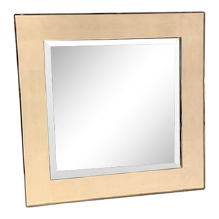 LaBarge Ivory Shagreen Leather Inlay Mirror For Sale