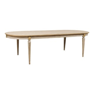 Swedish Style Oval Dining Table For Sale