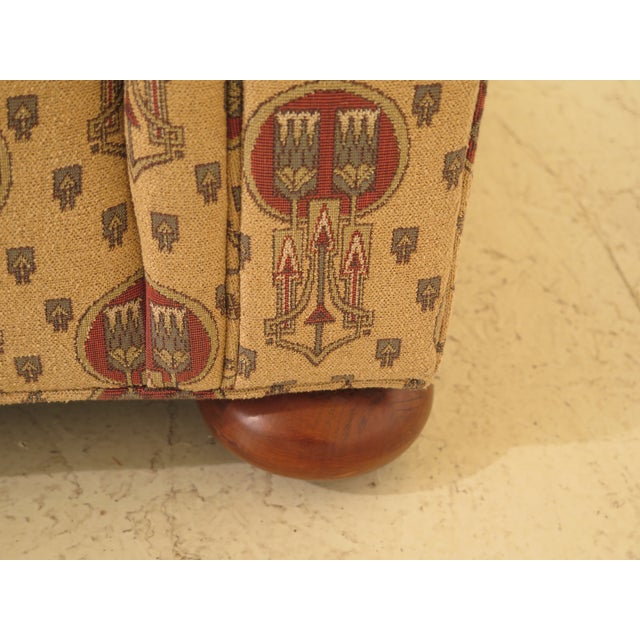 Stickley Native American Print Upholstered Club Chair For Sale In Philadelphia - Image 6 of 11