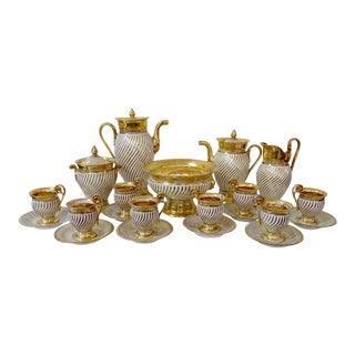 Signed Jeroche, Old Paris Tea Set. 21 Pieces
