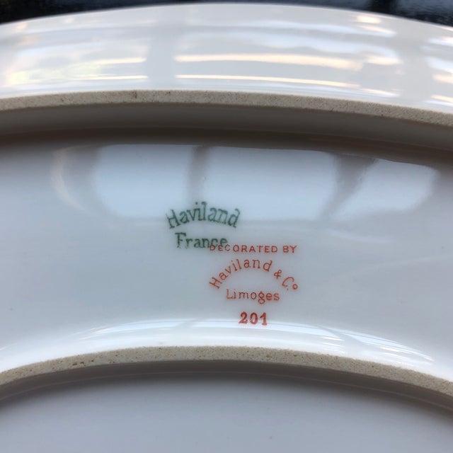 1920's Antique Haviland Limoges Long Serving Tray Platter For Sale In Chicago - Image 6 of 9