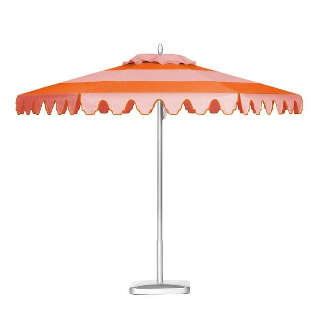 Tuscan Sunset 9' Patio Umbrella, Light Pink & Orange For Sale - Image 4 of 4