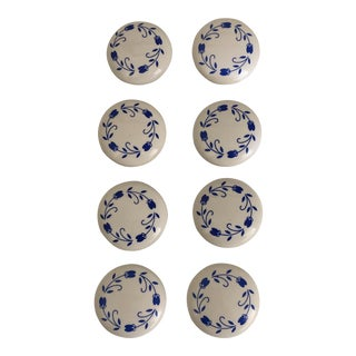 Set of 8 Shabby Chic Ceramic Knobs For Sale