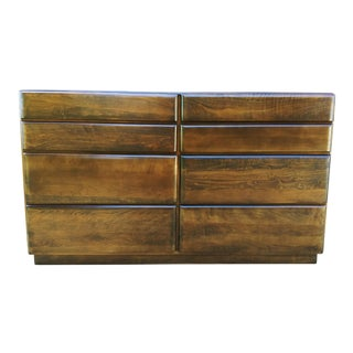 Russel Wright Rustic Modern Solid Maple Dresser For Sale