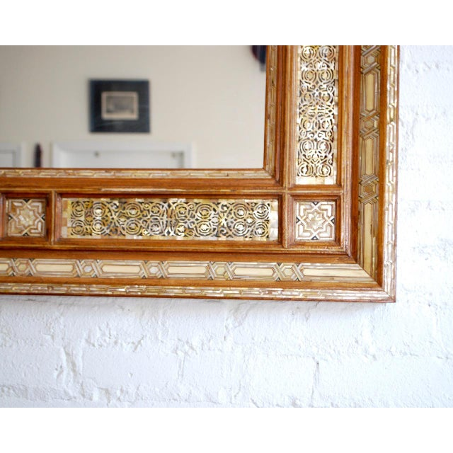 Syrian Mother of Pearl Inlay Mirror - Image 4 of 5