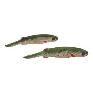 Antique Porcelain Limoge Fish Knife Rest / Set of 2 For Sale