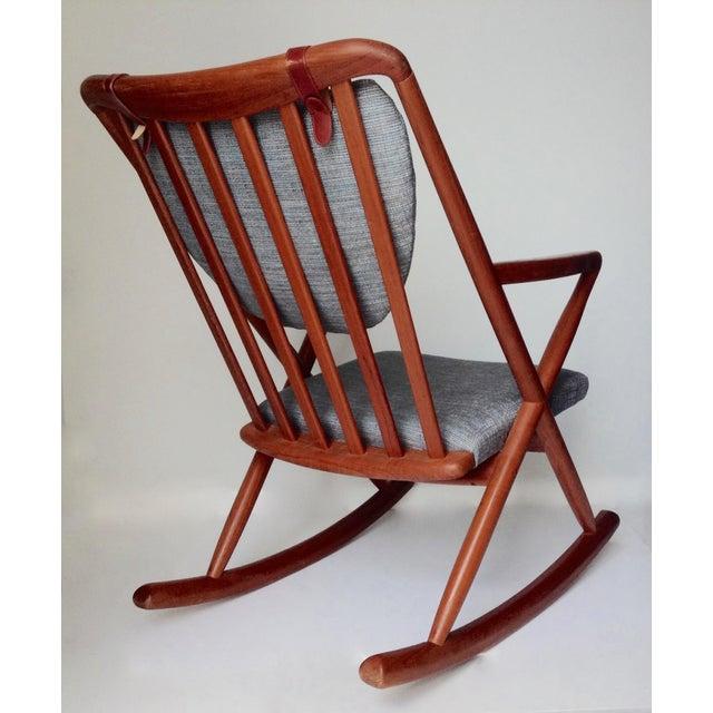 Bramin Møbler Benny Linden Danish Mid-Century Teak Rocking Chair For Sale - Image 4 of 11