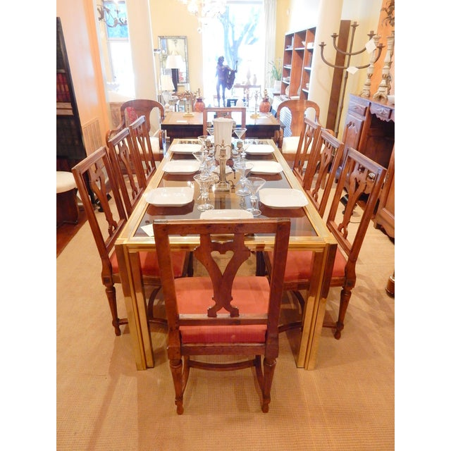 Brown 19th Century Louis XVI Walnut Dining Chairs - Set of 8 For Sale - Image 8 of 9