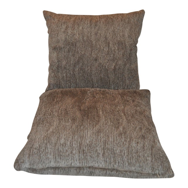Aviva Stanoff Faux Fur Pillows - Pair - Image 1 of 7