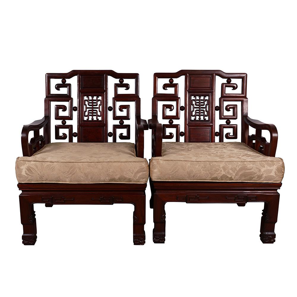 chinese antique carved rosewood sofa  u0026 tables set   set of 6   image 5 of chinese antique carved rosewood sofa  u0026 tables set   set of 6      rh   chairish